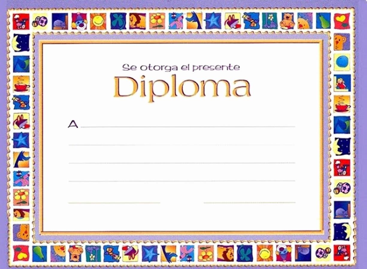 Formatos De Diplomas Para Modificar Beautiful Diplomas Infantiles Escolares Para Niños Para Imprimir Gratis