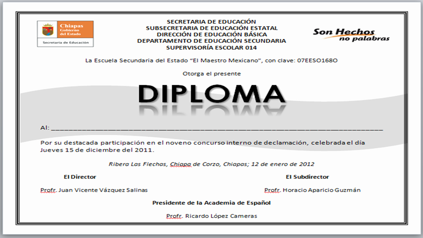 Formatos De Diplomas Para Modificar Best Of formato Para Diplomas