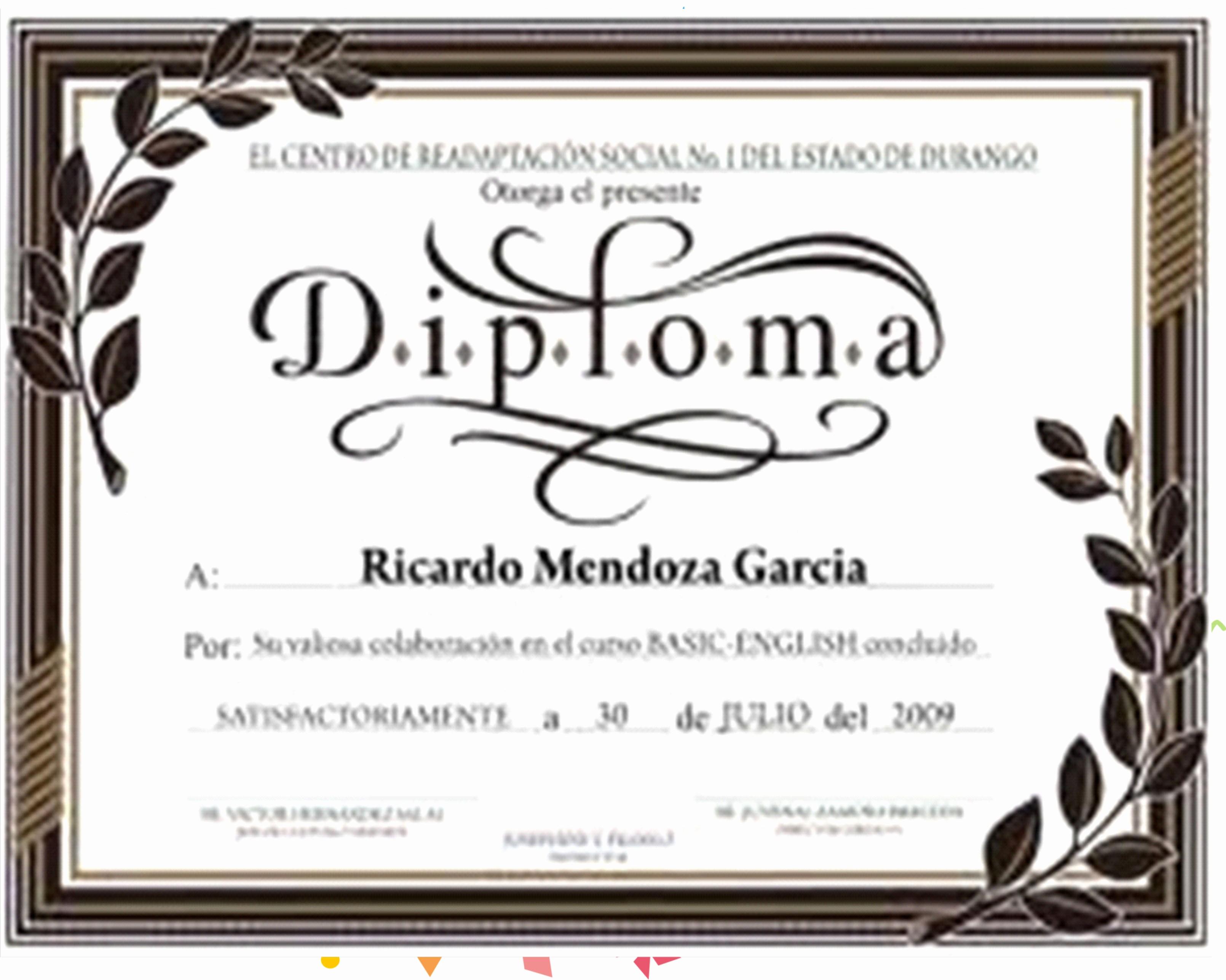 Formatos De Diplomas Para Modificar Unique Minientrada formato