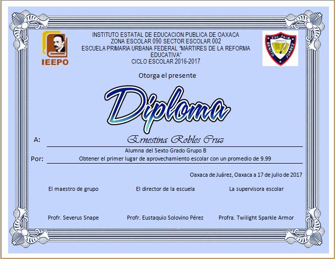 Formatos De Diplomas Por Aprovechamiento Awesome Actividades Imprimibles Para Primaria Diplomas Para