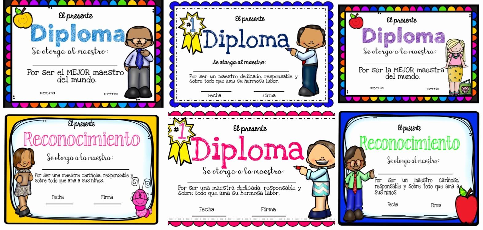 Formatos De Diplomas Por Aprovechamiento Awesome Excelentes Diplomas Del Da Del Maestro
