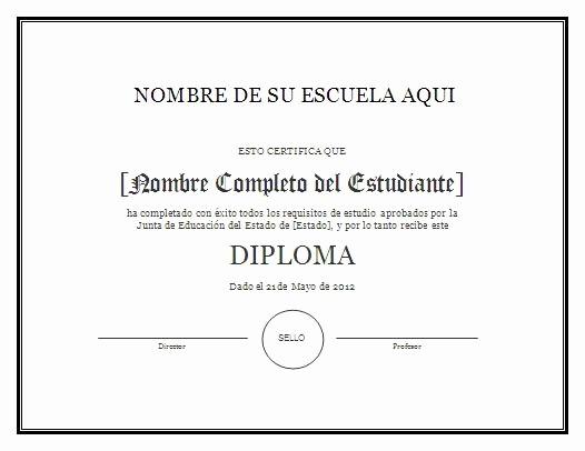 Formatos De Diplomas Por Aprovechamiento Awesome Modelo De Diploma Para Imprimir Gratis