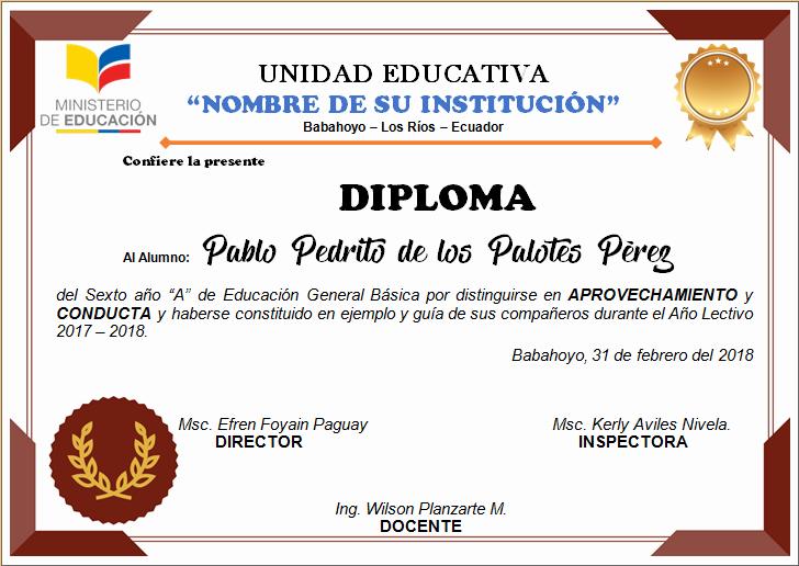 Formatos De Diplomas Por Aprovechamiento Best Of Diploma Para NiÑos Diplomas Plantilla Diplomas Para Editar
