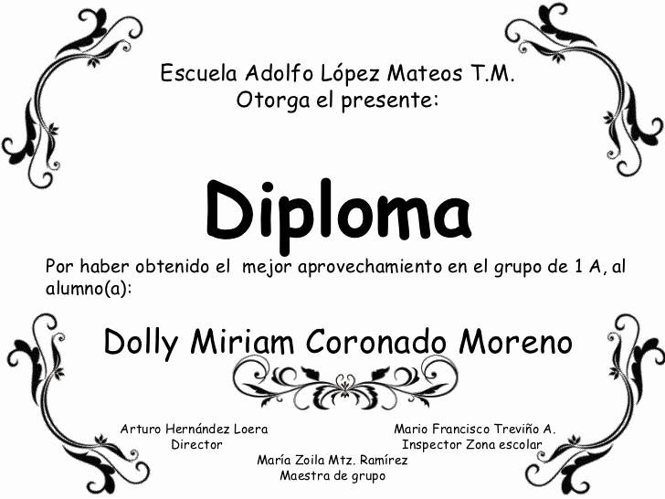 Formatos De Diplomas Por Aprovechamiento Best Of Diplomas Por Grupo