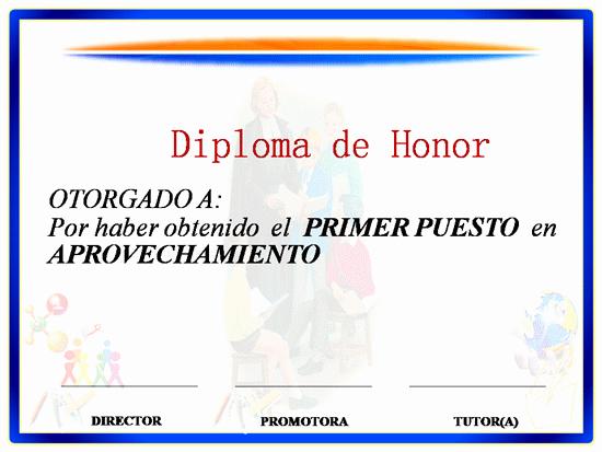 Formatos De Diplomas Por Aprovechamiento Elegant Ejemplo De Diploma De Aprovechamiento Escolar