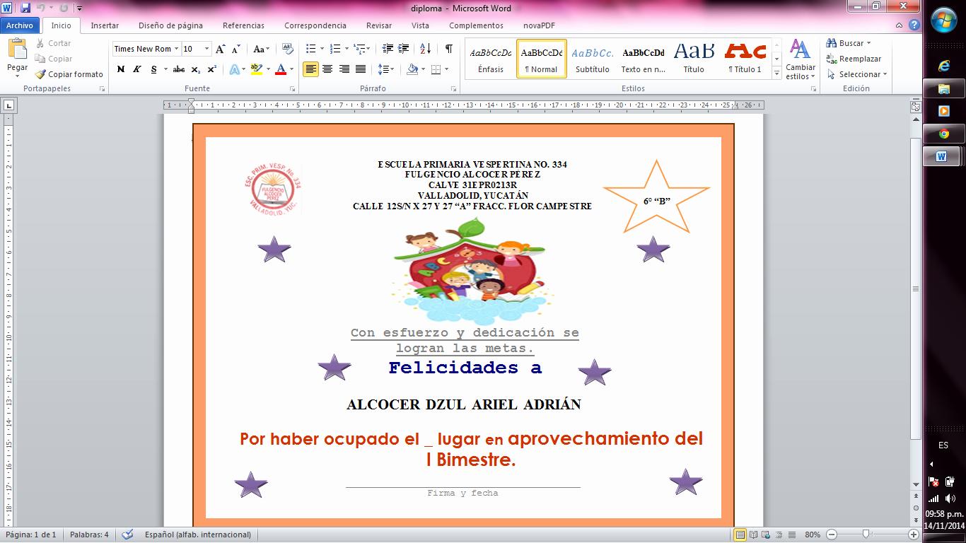 Formatos De Diplomas Por Aprovechamiento Inspirational formatos De Diplomas Por Aprovechamiento Joselinohouse