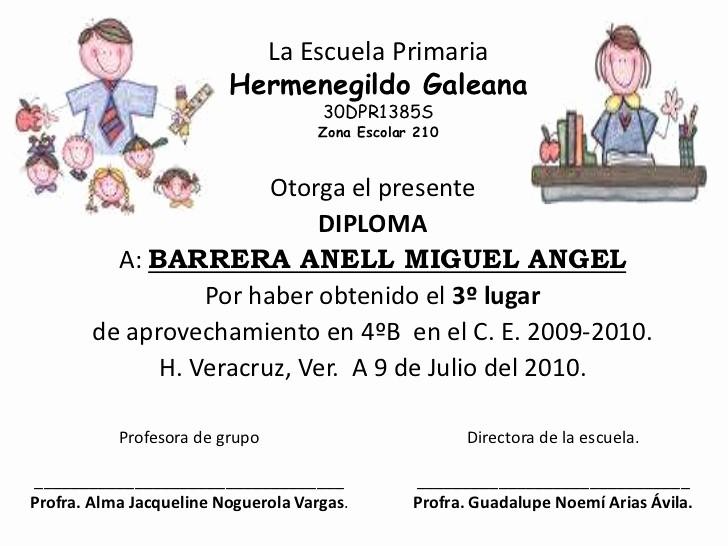 Formatos De Diplomas Por Aprovechamiento Lovely Diplomas Para Niños De Primaria De Aprovechamiento Imagui