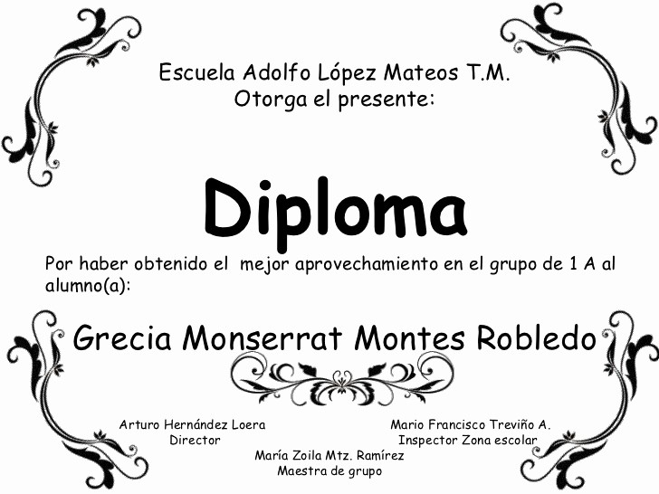 Formatos De Diplomas Por Aprovechamiento Luxury Diplomas Por Grupo