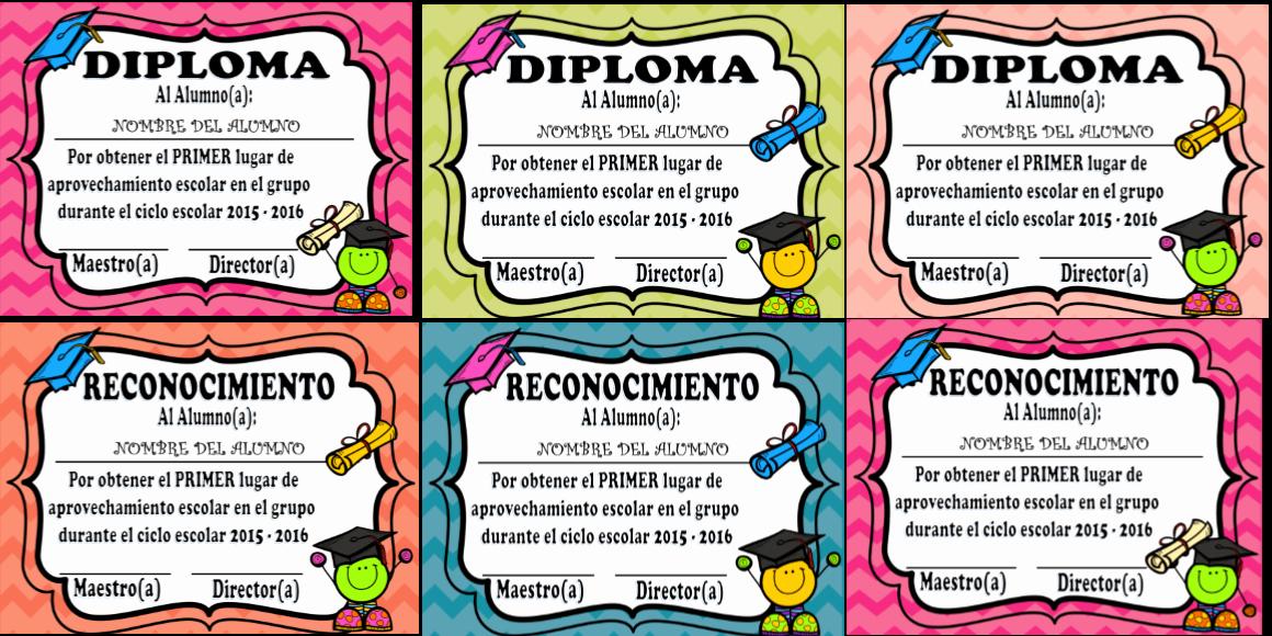 Formatos De Diplomas Por Aprovechamiento Luxury Diplomas Y Reconocimientos Modificables Para Premiar A Los