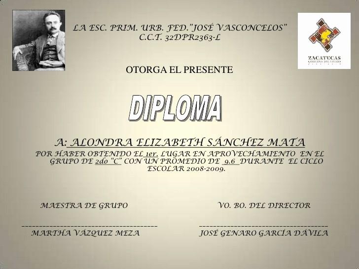 Formatos De Diplomas Por Aprovechamiento New Diploma