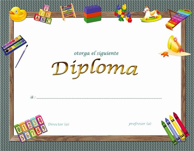 diplomas para el final del curso