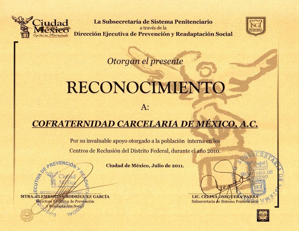 Formatos De Diplomas Por Aprovechamiento Unique Reconocimientos Confraternidad Carcelaria De México
