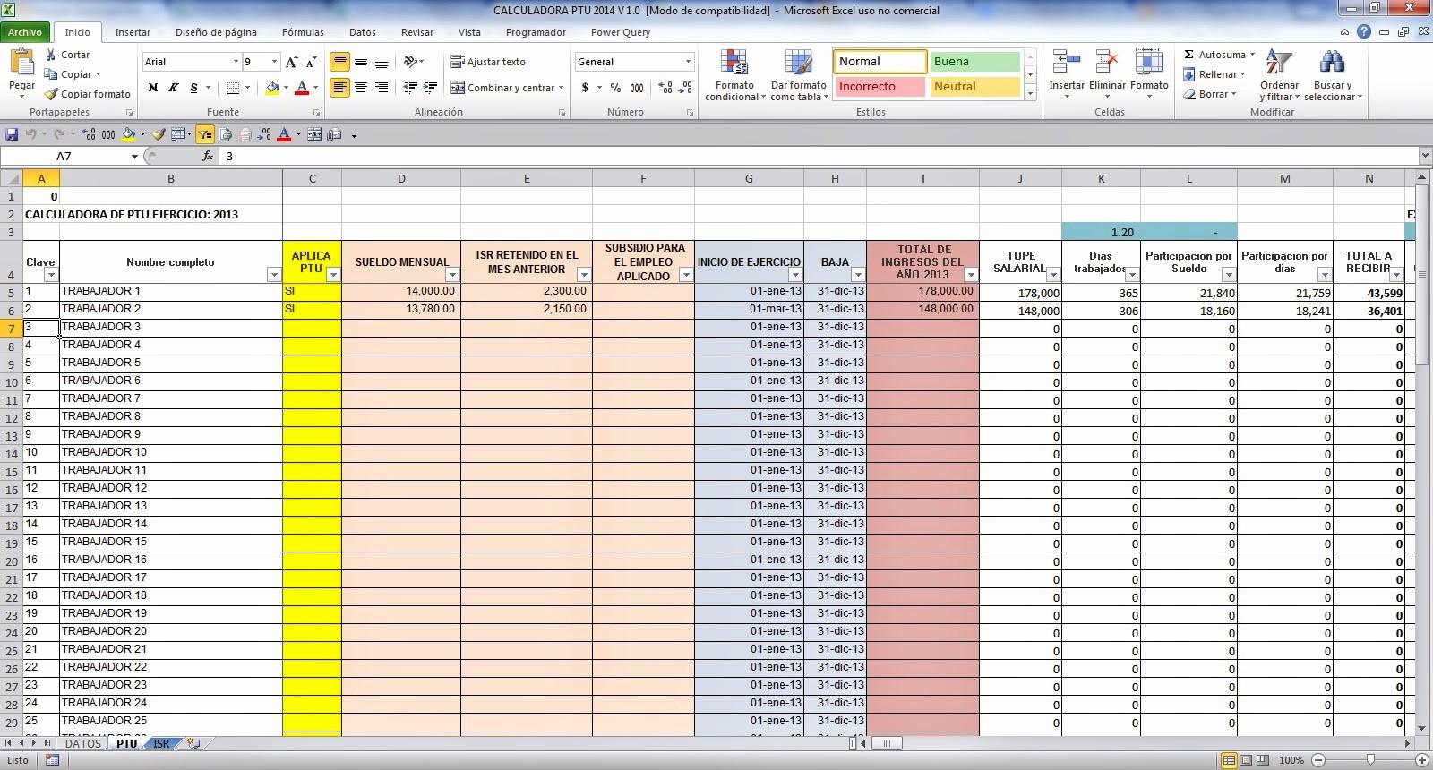 Formatos De Excel Para Contabilidad Awesome Calculadora Ptu 2015 En Excel Gratis Calculos Contables