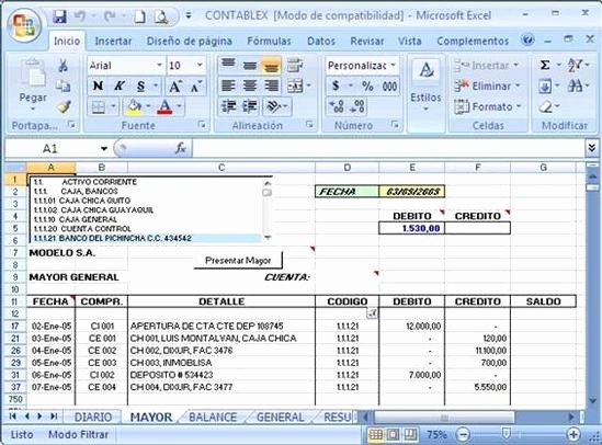 Formatos De Excel Para Contabilidad Awesome software Contable Educativo Desarrollado En Microsoft Excel