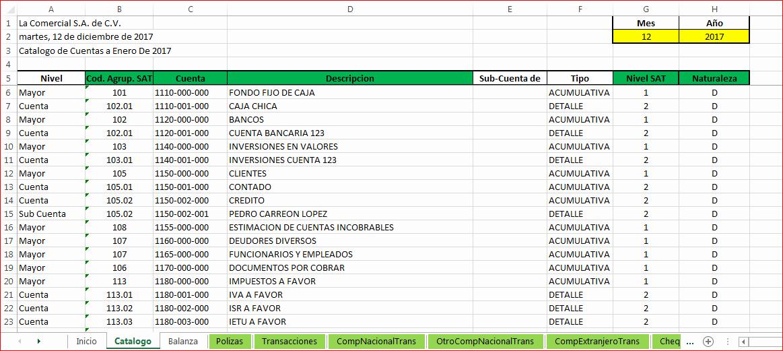 Formatos De Excel Para Contabilidad Beautiful Contabilidad Electrónica En Excel – formulas Excel