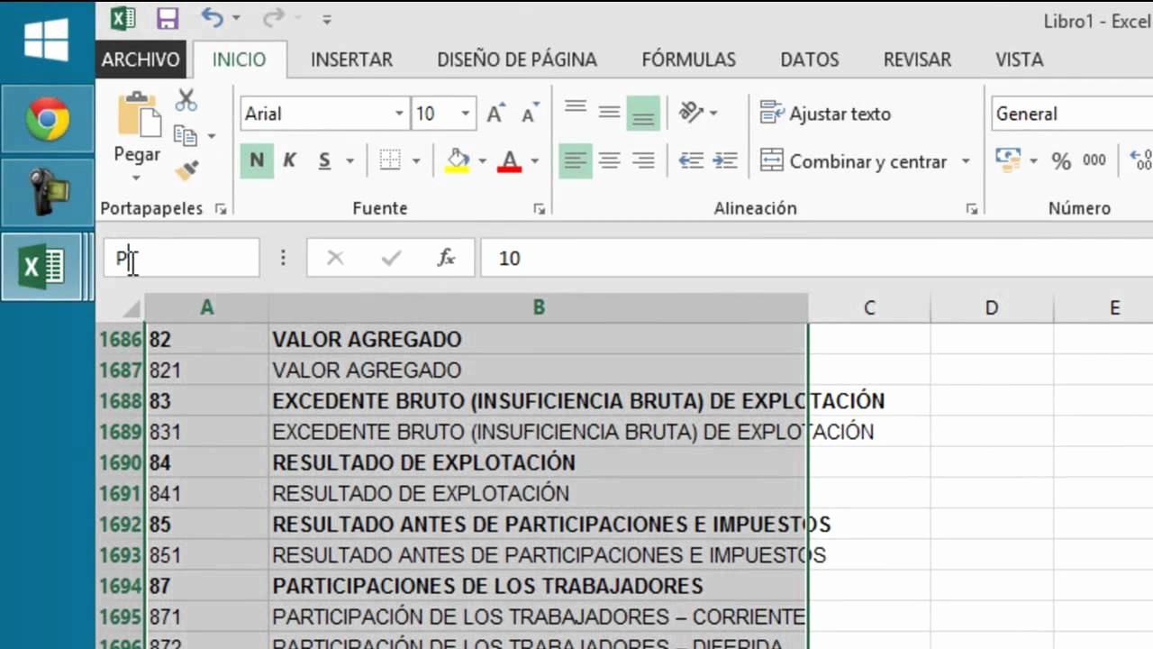 Formatos De Excel Para Contabilidad Beautiful Plan Contable En Excel Y Un Uso Facil