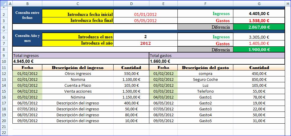 Formatos De Excel Para Contabilidad Best Of Ingresos Y Gastos