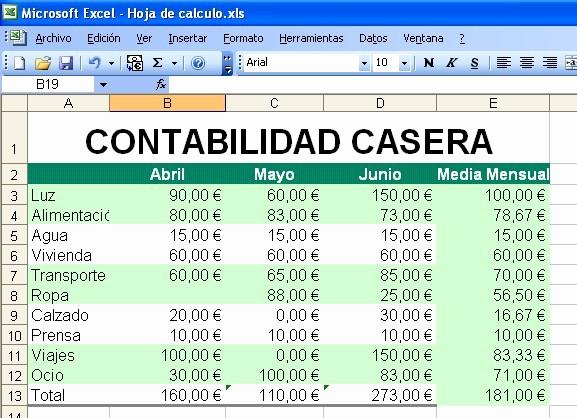 Formatos De Excel Para Contabilidad Fresh Práctica Sesión 15 Hojas De Cálculo Con Excel