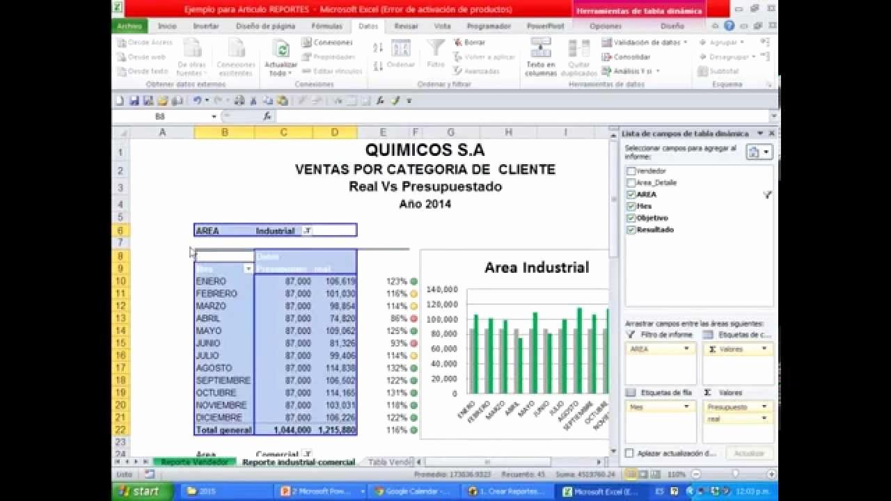 Formatos De Excel Para Reportes Awesome O Crear Reportes Gerenciales De Ventas Con Excel Udemy