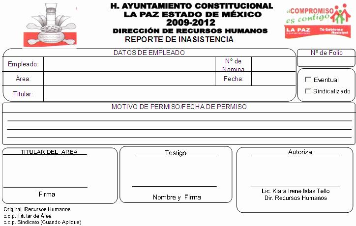 Formatos De Excel Para Reportes Best Of Rh Los Reyes La Paz