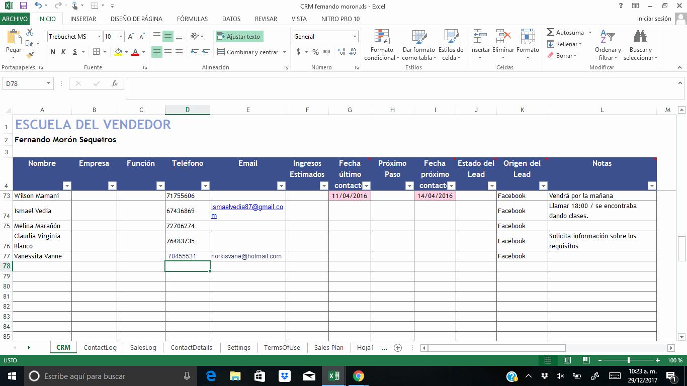 Formatos De Excel Para Reportes Elegant Crm Para Vendedores En formato Excel [descarga Gratuita]