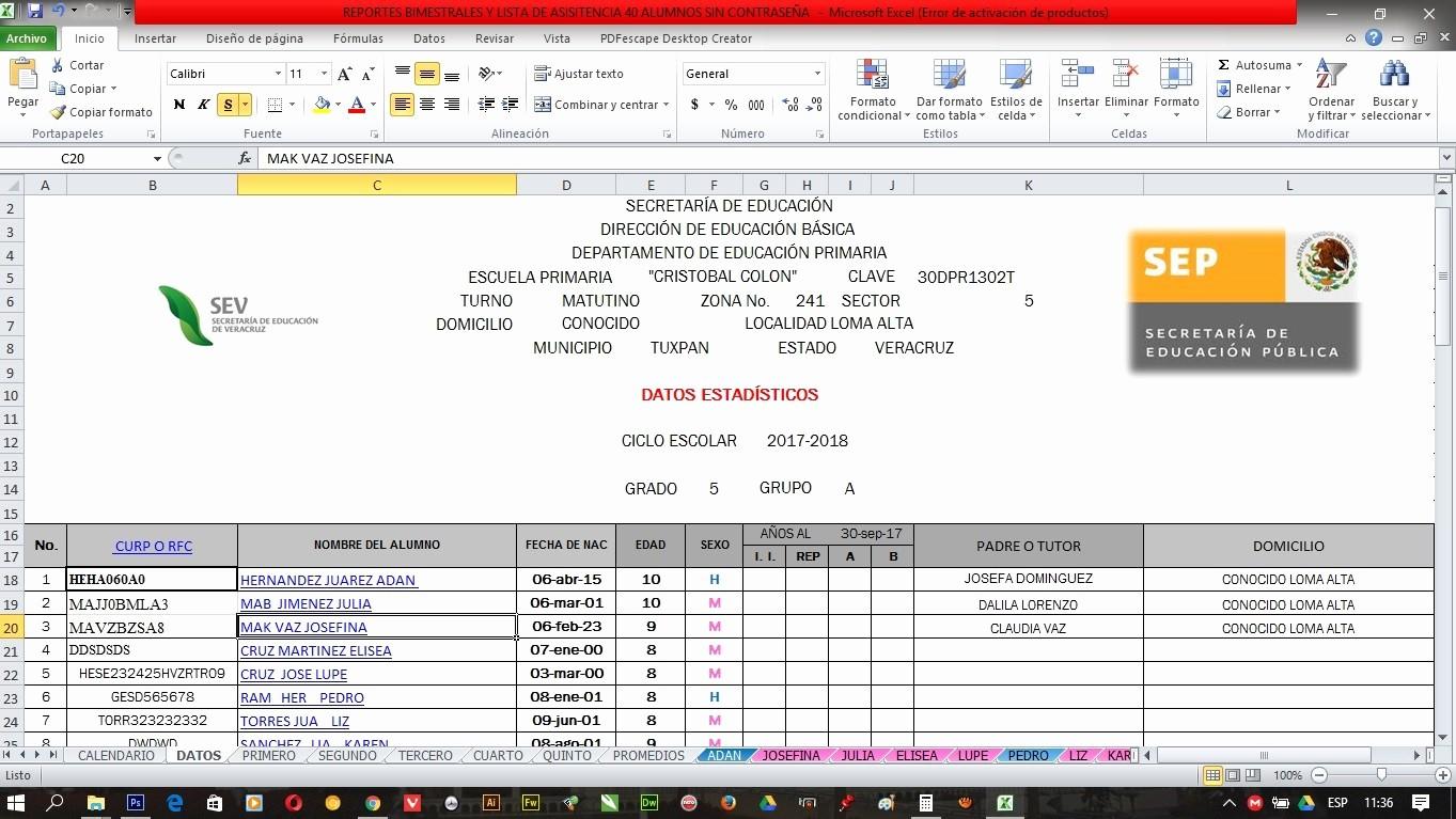 Formatos De Excel Para Reportes Fresh formato En Excel Reportes Bimestrales Y Lista De