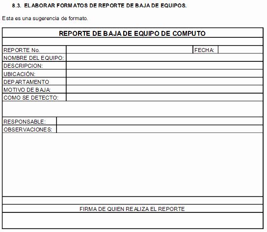 Formatos De Excel Para Reportes Fresh Operación De Equipos De Puto