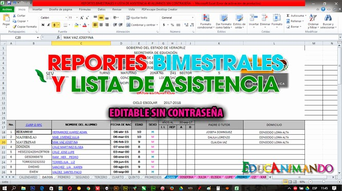 Formatos De Excel Para Reportes Inspirational formato En Excel Reportes Bimestrales Y Lista De