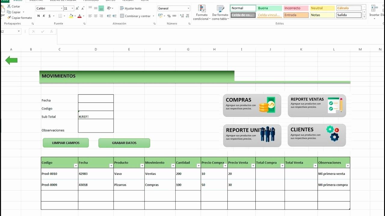 Formatos De Excel Para Reportes Lovely O Hacer Un Inventario De Entradas Salidas Ventas