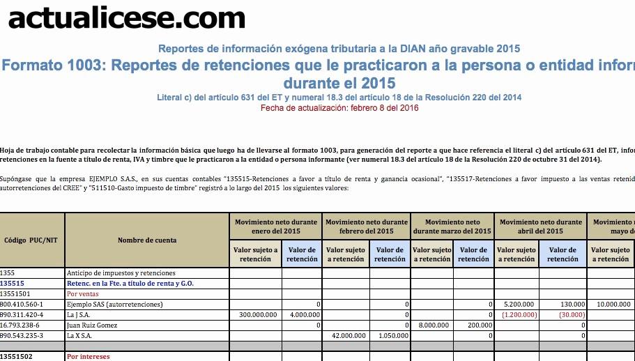 Formatos De Excel Para Reportes Lovely Retenciones En La Fuente