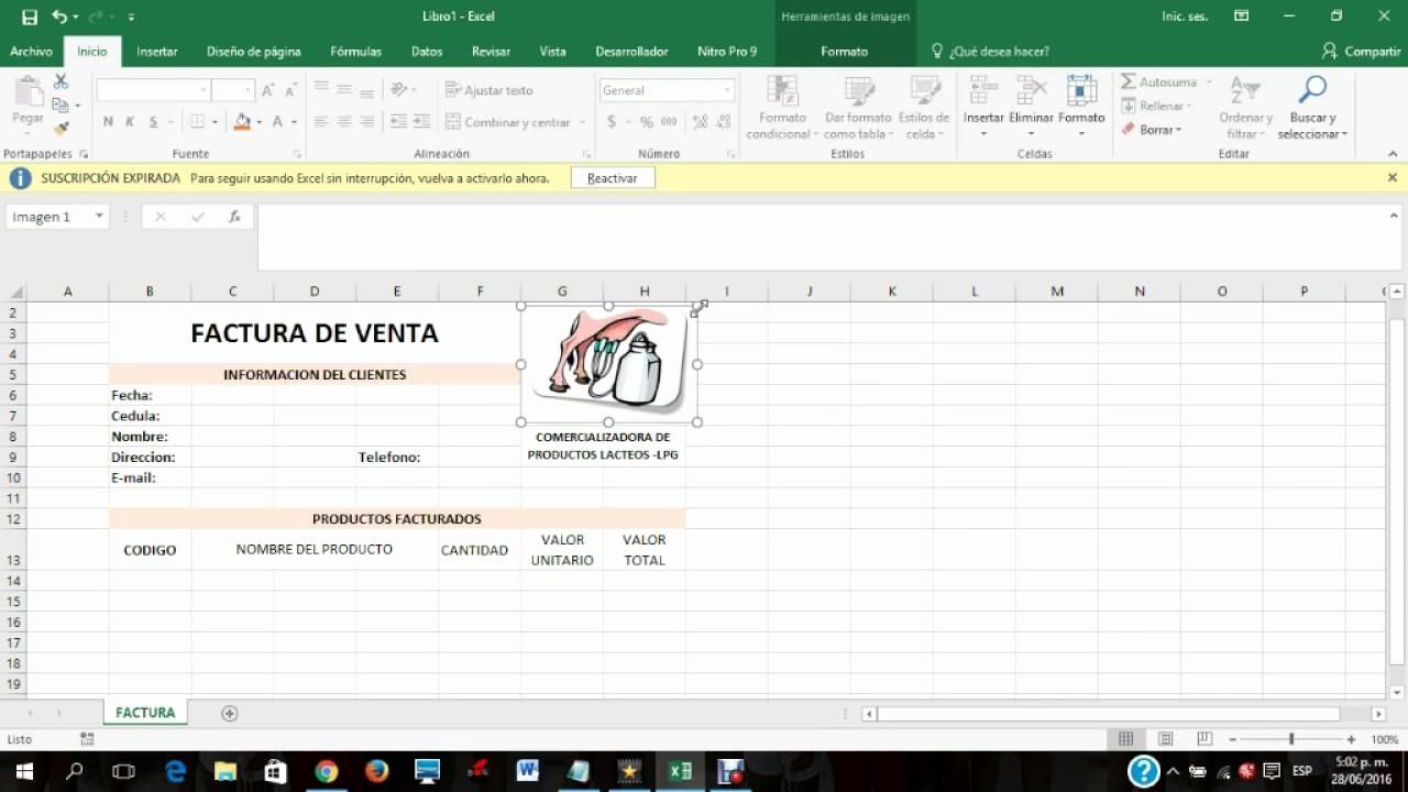 Formatos De Facturas En Excel Best Of Video Tutorial Para Hacer Una Factura En Excel 2016