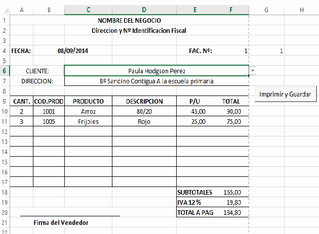 Formatos De Facturas En Excel Elegant O Crear Tu Sistema De Facturación En Excel 2 — Blog