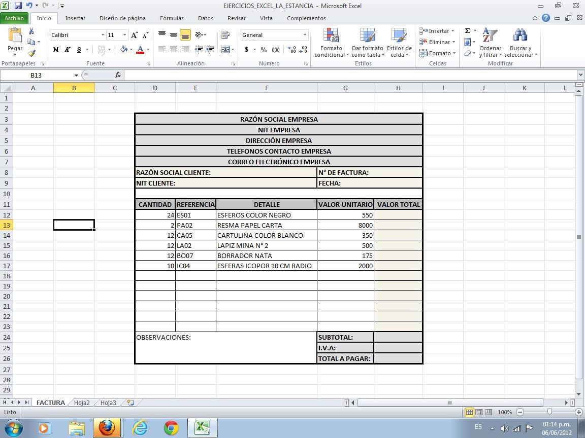 Formatos De Facturas En Excel Elegant TecnologÍa E InformÁtica La Estancia San isidro Labrador