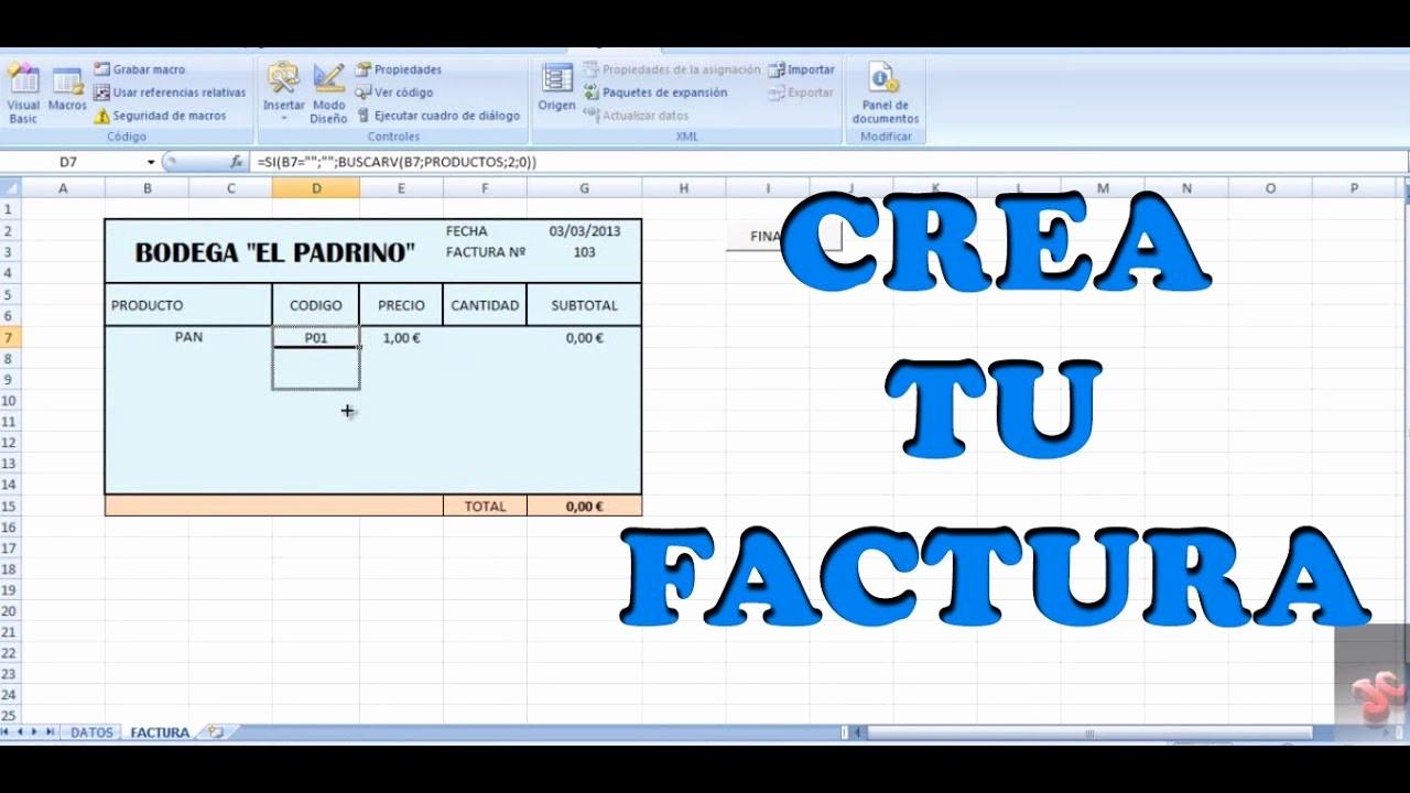 Formatos De Facturas En Excel Fresh Crear Una Factura Simple Con Excel