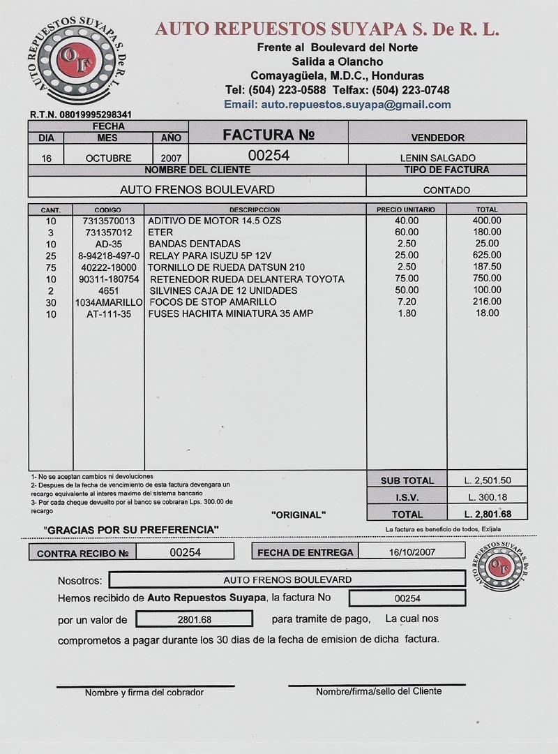 Formatos De Facturas En Excel Fresh Informatica 2° L N Facturas Excel