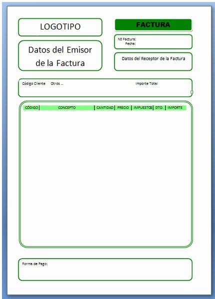 Formatos De Facturas En Excel Fresh Informatica904 Factura Ejercida De Excel