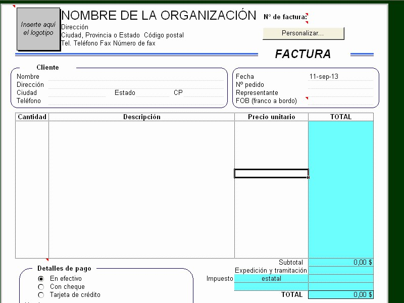 Formatos De Facturas En Excel Inspirational formatos De Factura En Excel Continuacinlas