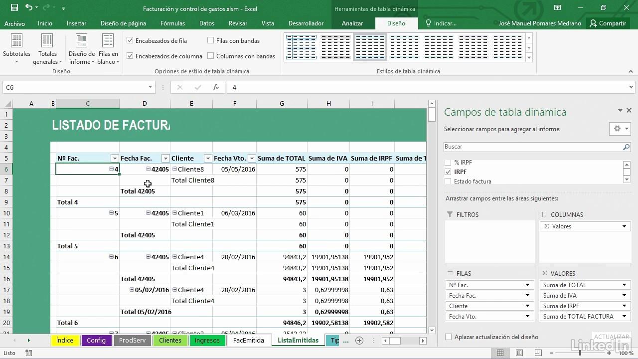 Formatos De Facturas En Excel Lovely 7 Cómo Generar Un Listado De Facturas Emitidas Con Excel