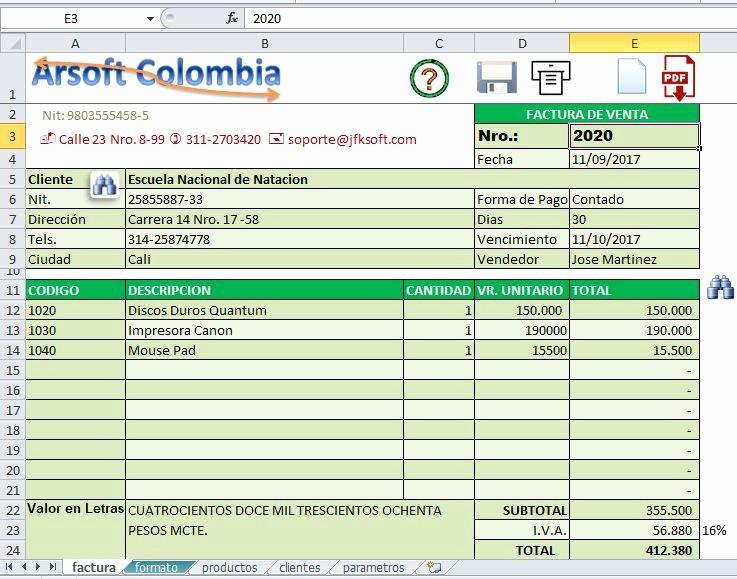 Formatos De Facturas En Excel Lovely Factura Excel Developer