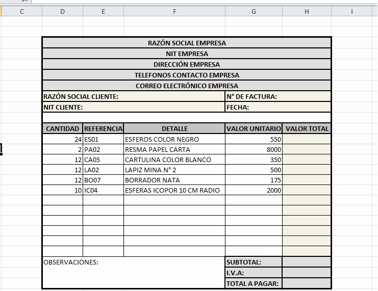 Formatos De Facturas En Excel Lovely InformÁtica Y TecnologÍa Colegio La Estancia San isidro