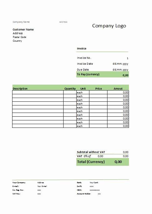 Formatos De Facturas En Excel Unique Modelo De Factura