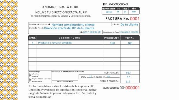 Formatos De Facturas Para Llenar Elegant O Llenar Una Factura islr asesores Integrales Procontax
