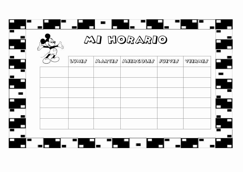Formatos De Horarios Para Imprimir Elegant Cuaderno De Trabajo Memonotas Plantillas Semanales