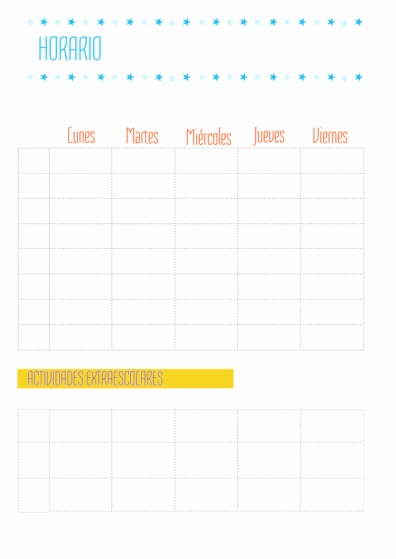 Formatos De Horarios Para Imprimir Fresh Plantilla De Horario Semanal Manualidades