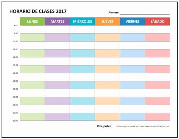 Formatos De Horarios Para Imprimir Luxury Horario De Clases Para Imprimir Descarga formato Editable