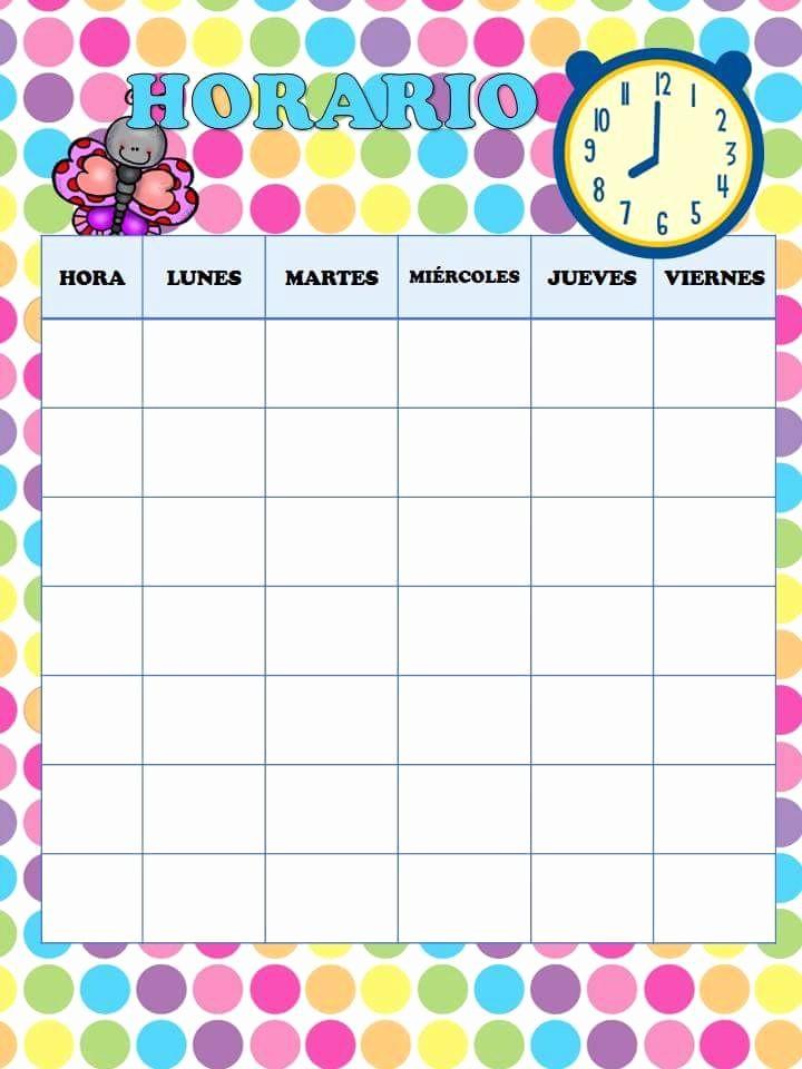 Formatos De Horarios Para Imprimir Luxury Magnifica Agenda Para Educadora 9 Imagenes Educativas