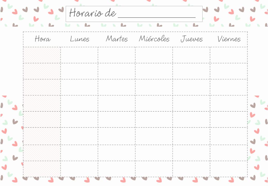 Formatos De Horarios Para Imprimir Luxury Vuelta Al Cole 2017 100 Plantillas Y Horarios Gratis Para