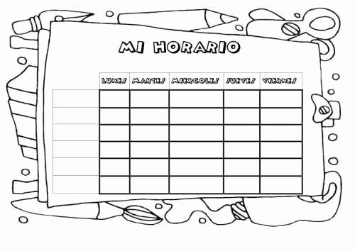 Formatos De Horarios Para Imprimir New Cuaderno De Trabajo Memonotas Plantillas Semanales