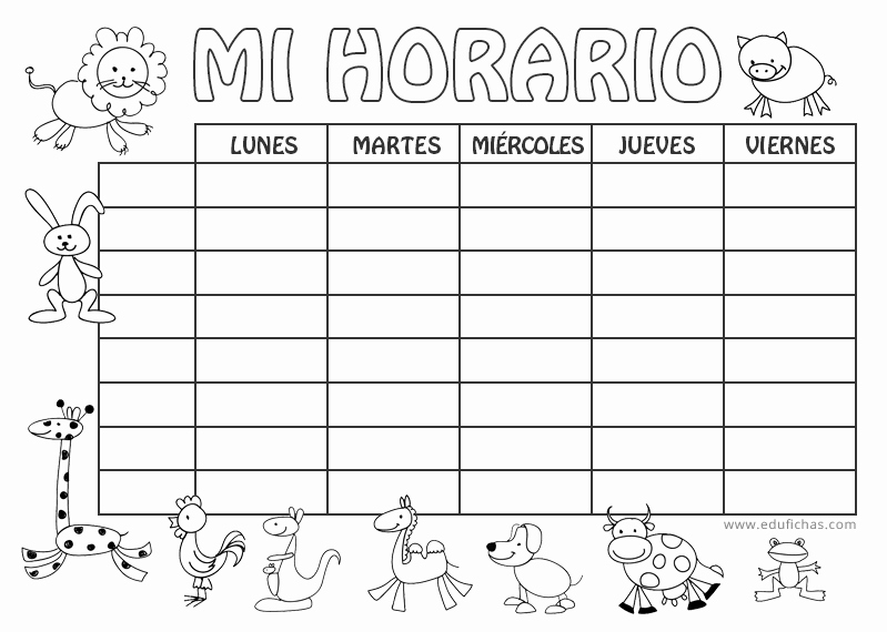 Formatos De Horarios Para Imprimir Unique Horario Escolar Para Imprimir Horario En Blanco Para