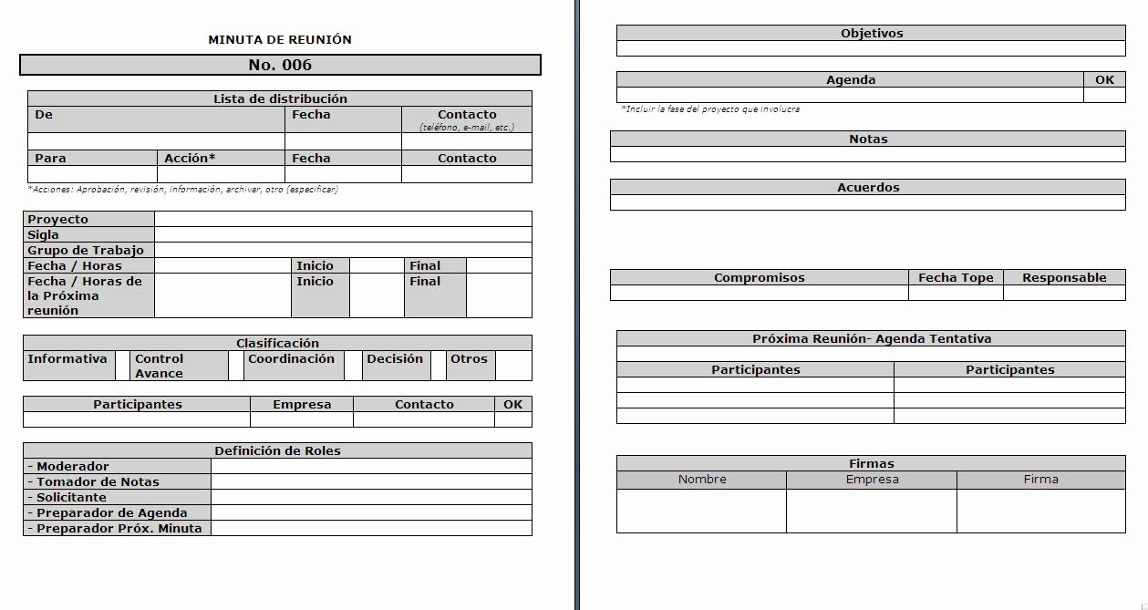 Formatos De Minutas De Reunion Inspirational Modelamiento De Procesos De Negocio formato De Minuta De